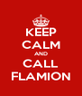 KEEP CALM AND CALL FLAMION - Personalised Poster A4 size
