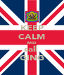 KEEP CALM AND call  GING - Personalised Poster A4 size