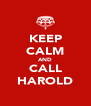 KEEP CALM AND CALL HAROLD - Personalised Poster A4 size