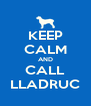 KEEP CALM AND CALL LLADRUC - Personalised Poster A4 size