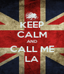 KEEP CALM AND CALL ME LA - Personalised Poster A4 size