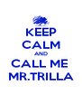 KEEP CALM AND CALL ME  MR.TRILLA - Personalised Poster A4 size
