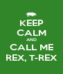 KEEP CALM AND CALL ME REX, T-REX - Personalised Poster A4 size