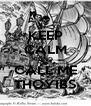 KEEP CALM AND CALL ME THOYIBS - Personalised Poster A4 size