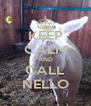 KEEP CALM AND CALL NELLO - Personalised Poster A4 size
