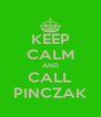 KEEP CALM AND CALL PINCZAK - Personalised Poster A4 size