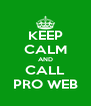 KEEP CALM AND CALL PRO WEB - Personalised Poster A4 size