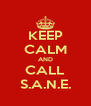 KEEP CALM AND CALL S.A.N.E. - Personalised Poster A4 size