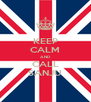 KEEP CALM AND CALL SANJU - Personalised Poster A4 size