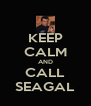 KEEP CALM AND CALL SEAGAL - Personalised Poster A4 size