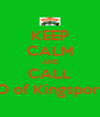 KEEP CALM AND CALL SERVPRO of Kingsport/ Bristol - Personalised Poster A4 size