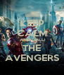 KEEP CALM AND CALL THE AVENGERS - Personalised Poster A4 size