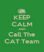 KEEP CALM AND Call The CAT Team - Personalised Poster A4 size