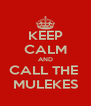 KEEP CALM AND CALL THE  MULEKES - Personalised Poster A4 size