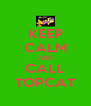 KEEP CALM AND CALL TOPCAT - Personalised Poster A4 size
