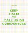 KEEP CALM AND CALL US ON 02897564266 - Personalised Poster A4 size