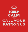 KEEP CALM AND CALL YOUR PATRONUS - Personalised Poster A4 size