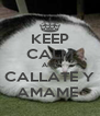 KEEP CALM AND CALLATE Y AMAME  - Personalised Poster A4 size