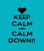 KEEP CALM AND CALM DOWN!! - Personalised Poster A4 size