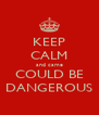 KEEP CALM and came COULD BE DANGEROUS - Personalised Poster A4 size
