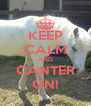 KEEP CALM AND CANTER ON! - Personalised Poster A4 size