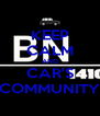 KEEP CALM AND CAR'S COMMUNITY - Personalised Poster A4 size