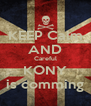 KEEP Calm AND Careful KONY is comming - Personalised Poster A4 size