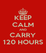 KEEP CALM AND CARRY 120 HOURS - Personalised Poster A4 size