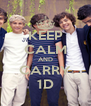KEEP CALM AND CARRY 1D - Personalised Poster A4 size