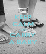 KEEP CALM AND CARRY A BABY - Personalised Poster A4 size