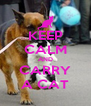 KEEP CALM AND CARRY A CAT - Personalised Poster A4 size