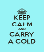 KEEP CALM AND CARRY A COLD - Personalised Poster A4 size