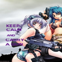 KEEP                           CALM                          AND                              CARRY                        A GUN                         - Personalised Poster A4 size