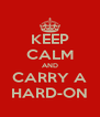 KEEP CALM AND CARRY A HARD-ON - Personalised Poster A4 size