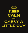 KEEP CALM AND CARRY A LITTLE GUY! - Personalised Poster A4 size