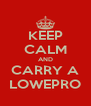KEEP CALM AND CARRY A LOWEPRO - Personalised Poster A4 size