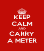 KEEP CALM AND CARRY A METER - Personalised Poster A4 size