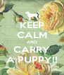 KEEP CALM AND CARRY A PUPPY!! - Personalised Poster A4 size