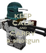 KEEP CALM AND CARRY a shotgun - Personalised Poster A4 size