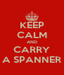 KEEP CALM AND CARRY A SPANNER - Personalised Poster A4 size