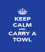 KEEP CALM AND CARRY A TOWL - Personalised Poster A4 size