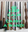 KEEP CALM AND CARRY A WAND! - Personalised Poster A4 size