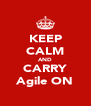 KEEP CALM AND CARRY Agile ON - Personalised Poster A4 size