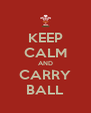 KEEP CALM AND CARRY BALL - Personalised Poster A4 size
