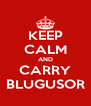 KEEP CALM AND CARRY BLUGUSOR - Personalised Poster A4 size