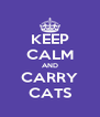 KEEP CALM AND CARRY CATS - Personalised Poster A4 size