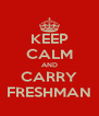 KEEP CALM AND CARRY FRESHMAN - Personalised Poster A4 size