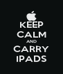 KEEP CALM AND CARRY IPADS - Personalised Poster A4 size