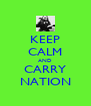 KEEP CALM AND CARRY NATION - Personalised Poster A4 size