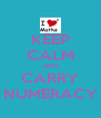 KEEP CALM AND CARRY NUMERACY - Personalised Poster A4 size